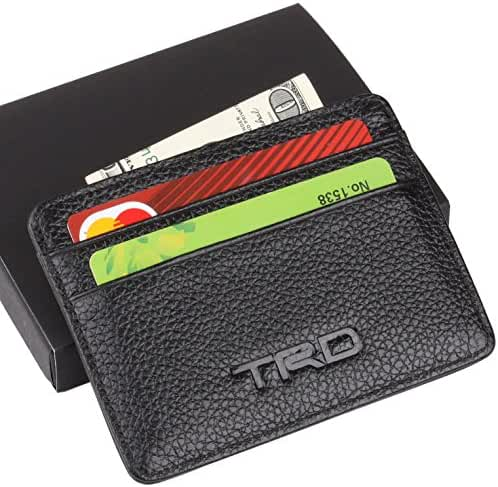 TRD Toyota Slim Wallet Black with 4 Credit Card Slots - Genuine Leather