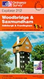 Woodbridge and Saxmundham (Explorer Maps)