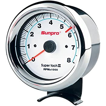 51JT3C7P1ZL._SL500_AC_SS350_ amazon com sunpro cp7900 sport super tachometer black dial sunpro mini tach wiring diagram at n-0.co