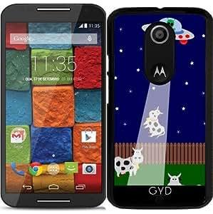Funda para Motorola Moto X (Génération 2) - Secuestro Ovni Con La Vaca by zorg