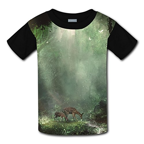 Short Sleeve New 2018 style Shirt 3D Personalised Custom With Deer Forest For Boy Girl - Motorcycle Whistler