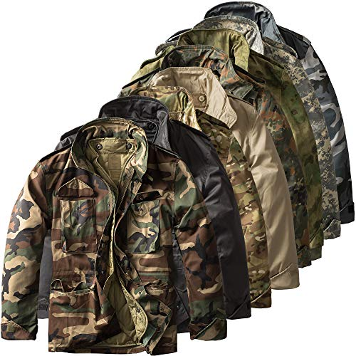 Urbandreamz Jacket D'hiver Field Parka De Us Army M65 Combat Bundeswehr Olive Veste Camouflage 4r4gOEfWqw