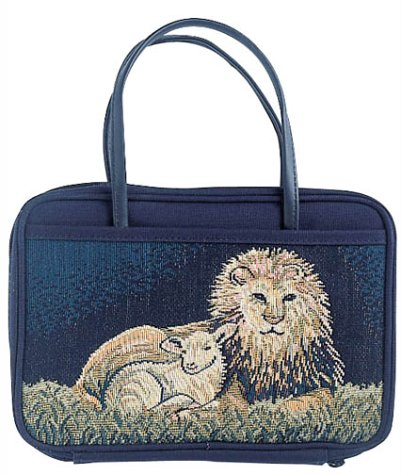 The Charleston Needlepoint Collection Bible Cover: Lion and Lamb, Large