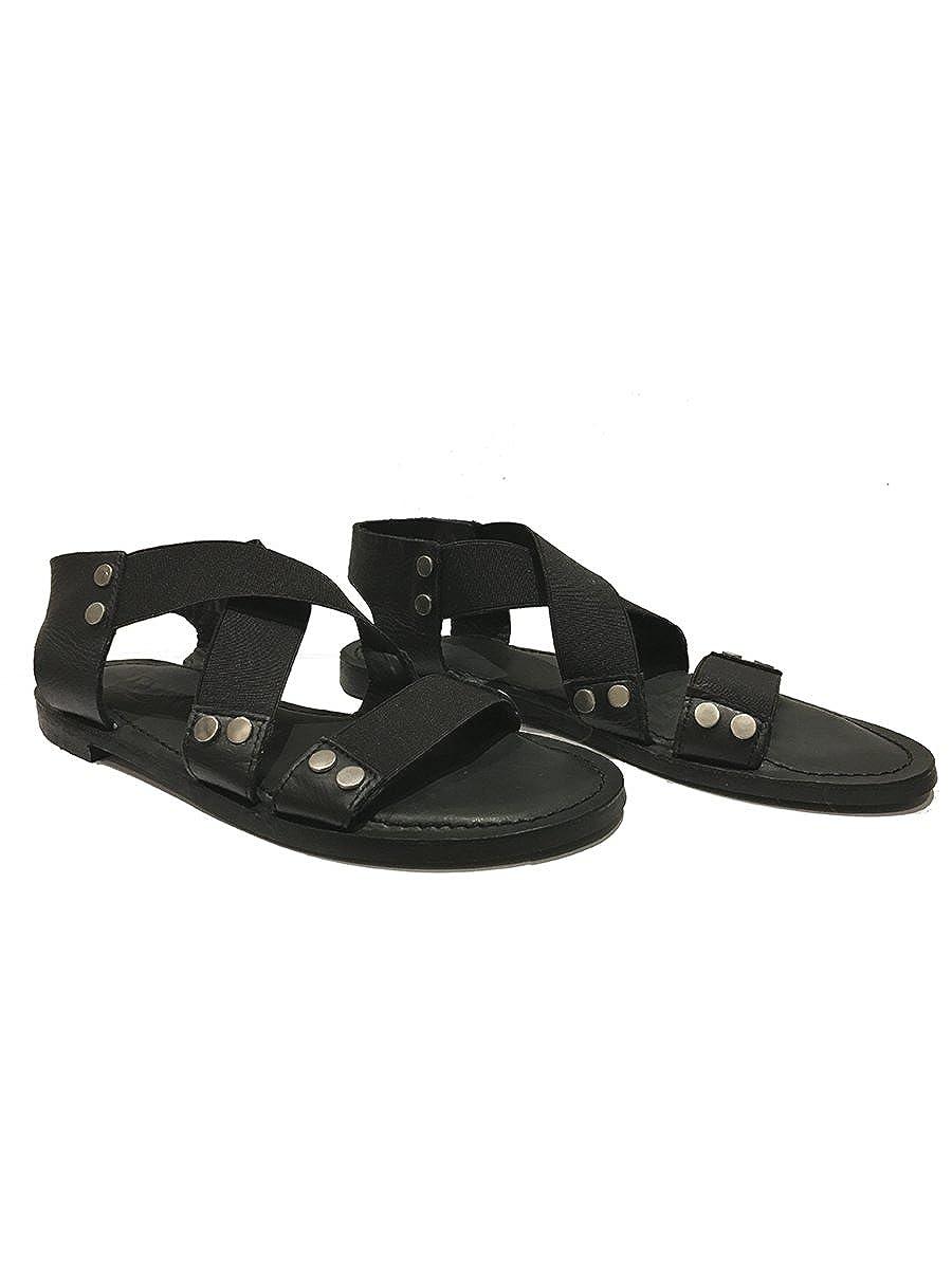 Ivylee Copenhagen Women's Vega Black Leather Sandal B074VFRFT3 40 M EU
