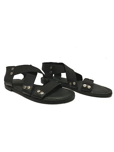 c490f9476 IVYLEE Copenhagen Women's Vega Black Leather Sandal (40): Amazon.co ...