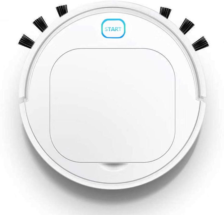 DokFin Robot Aspirador Inteligente, 3 en 1 Robot Aspirador automático y fregasuelos, USB Recargable, para Mascotas ...
