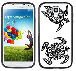 Tribal Turtles Tattoo Samsung Galaxy S4 Black Bumper Hard Plastic Case