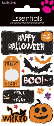 Sandylion Happy Halloween Essential Handmade Sticker ()