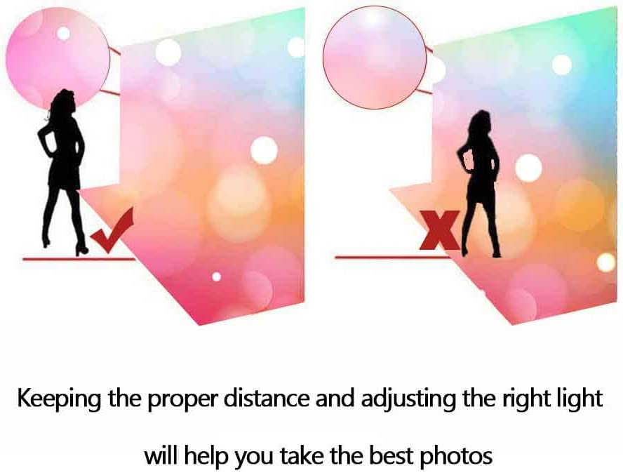 FHZON Custom Background 10x7ft Colorful Bokeh Photography Backdrops Artistic Portrait Wallpaper Photo Booth Props GYFH812