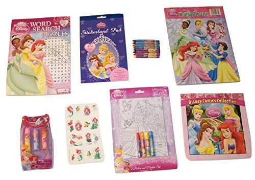 [Disney Princess Activity Gift Set ~ A Princess Life (Holiday Puzzle, Disney Comics, Flavored Lip Jellies, Tattoos, Stickers, Poster Set, Word Search, Crayons; 8 items, 1 Bundle)] (Disney Princess And The Frog Tattoos)