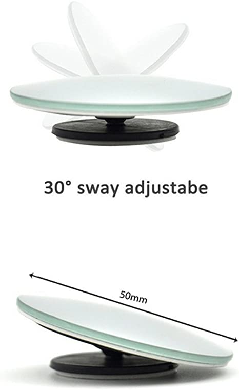 Haodou Paquete de 2 persianas para autos con espejo Espejo retrovisor con espejo retrovisor Espejo lateral automotriz con ajuste ajustable de 360 /° Grado giratorio sin marco HD Vidrio lente gran