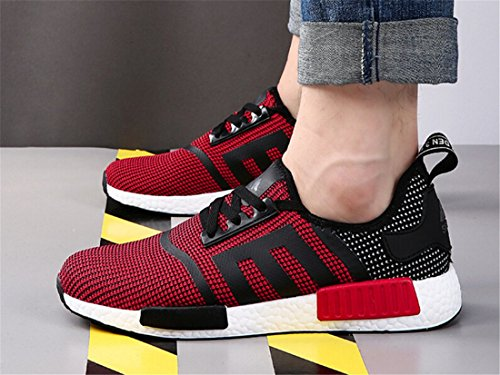 NELSON KENT Womens Mens Casual Running Shoes Fashion Comfortable Walking Sneakers Red F1KkJdK