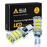 Alla Lighting 921 LED Reverse Light Bulb CAN-BUS Xtreme Super Bright 4014 48-SMD RV Car 912 W16W T15 Backup Brake Stop Cargo Lights, 6000K Xenon White