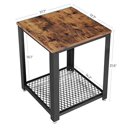 VASAGLE Industrial End Table image 6