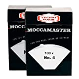 Technivorm Moccamaster 85022 Moccamaster #4 Paper Filters, White (2)