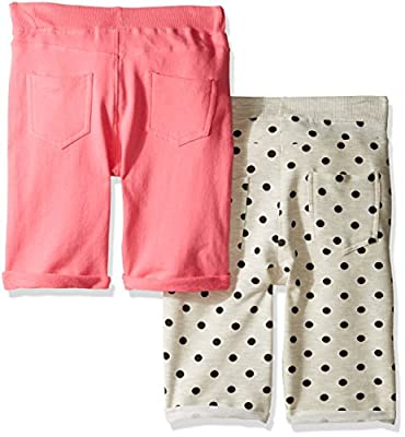 Limited Too Big Girls' 2 Pack Clean Front Knit Bermuda Shorts