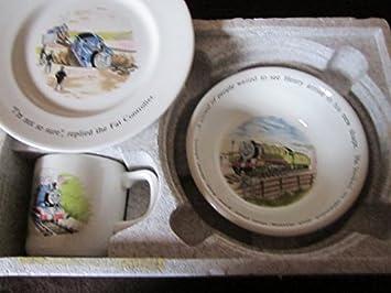 Wedgwood Thomas the Tank Engine And Friends Three Piece Nursery Feeding Set Plate Oatmeal Bowl And Cup Amazon.co.uk Kitchen u0026 Home & Wedgwood Thomas the Tank Engine And Friends Three Piece Nursery ...