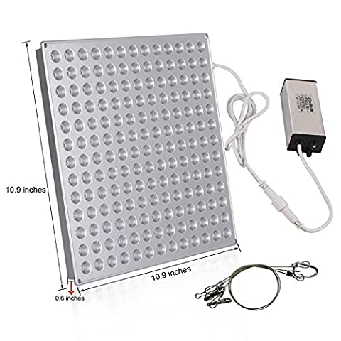 45W LED HydroPonics Grow Light Panel Reflector, Red Blue Full Spectrum Hanging Light for Indoor Marijuana, Produce, Seeding, Germination & Flower Plants (Greenhouse HydroGrow Technology) Energy - Pepper Tower