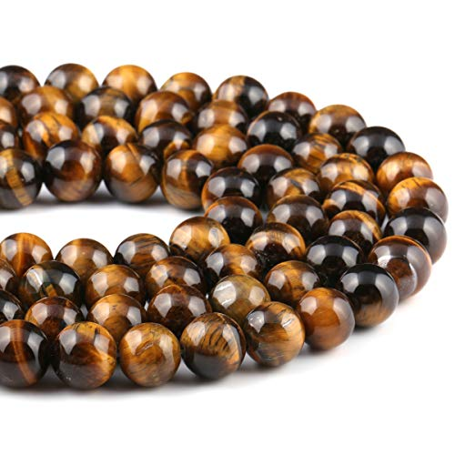 - Natural Stone Beads Yellow Tiger Eye Round Loose Beads for Jewelry Making 1 Strand 15