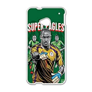 HTC One M7 Cell Phone Case White WorldCup Nigeria Nqmzo