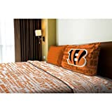 NFL Anthem Cincinnati Bengals Bedding Sheet Set: Twin