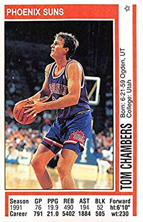 1991 92 Panini Stickers Basketball 26 Tom Chambers Phoenix Suns 2 Inch By 3