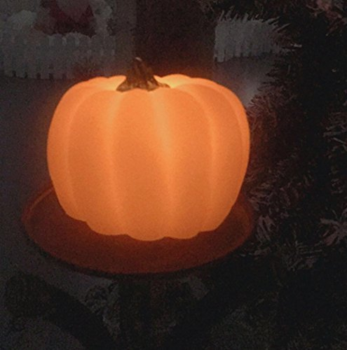 THEA HOME bettery operated pumpkin shaped LED candle light,LED Flameless candles,Halloween,Thanksgiving,Christmas Day's Decoration.