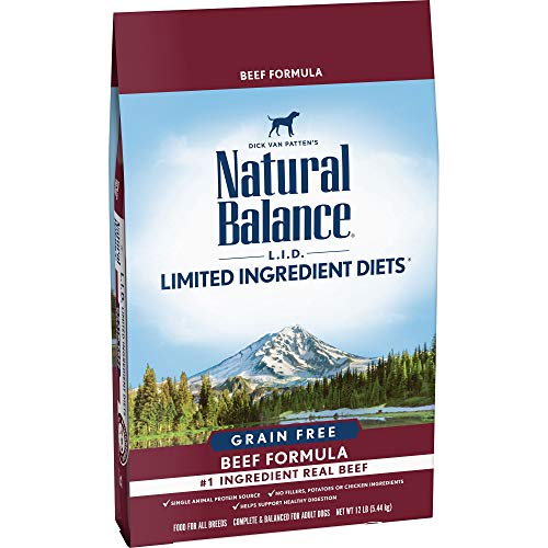 (Natural Balance Limited Ingredient Diets Dry Dog Food, Beef Formula, Grain Free, 12 lb)