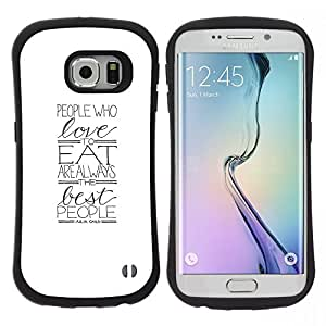 """Hypernova Slim Fit Dual Barniz Protector Caso Case Funda Para Samsung Galaxy S6 EDGE [Amor Regalo minimalista Alimentos Foodie""""]"""