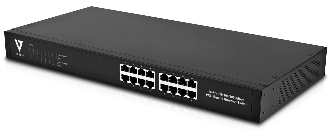 V7 PEGS16-1N 16PORT Unmanaged Poe Switch