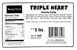Triple Heart Gummy Candy, 5 Lbs