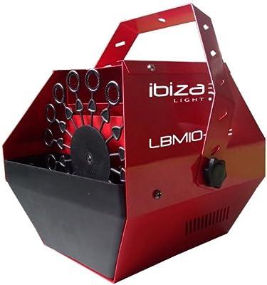 Ibiza LBM10-RE Maquina de burbujas port/átil rojo