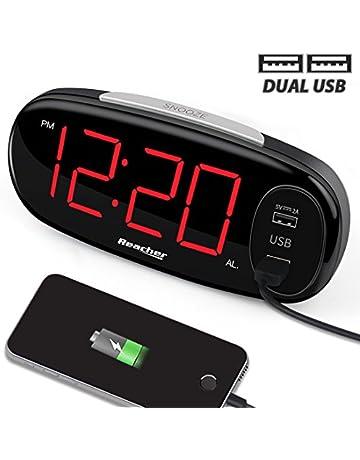 Alarm Clocks Home Decor Wooden Led Digital Alarm Clock Usb & Battery Temperature Sounds Control Clock Modern Led Display Desktop Digital Table Clocks