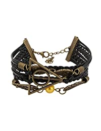 Accessorisingg Harry Potter Multi-Strand Artificial Leather Bracelet [BR062]