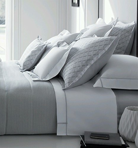 Yves Delorme Losanges Silver Light Grey QUEEN Duvet Cover