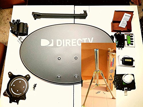 2018 Directv Swm 3 for camping Tripod 3' ft Dish Kaku Slimline Last Test Come 100 Ft Wire Black or white depend warehouse stock w/ End Ppc Fitting Xl Signal Finder Full Hd Cable , power 21 volts