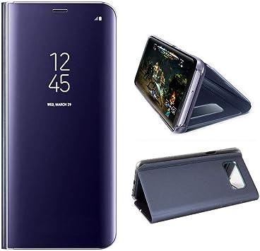 AURSEN Case de Teléfono para Samsung Galaxy S8 Plus, Flip Cover Carcasa, Soporte Plegable, Cierre Magnético: Amazon.es: Electrónica