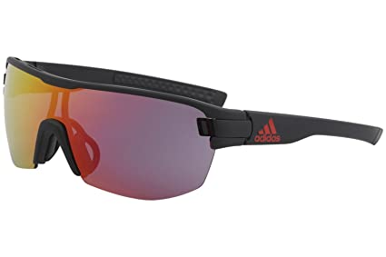 huge discount 9f1eb 3ba25 Image Unavailable. Image not available for. Color  adidas Zonyk Midcut L  Sunglasses 2018 Black Matte Red Mirror