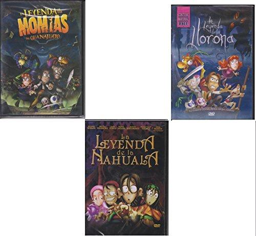 La Leyenda De La Nahuala, La Llorona,y Las Momias De Guanajuato NEW DVD Espanol