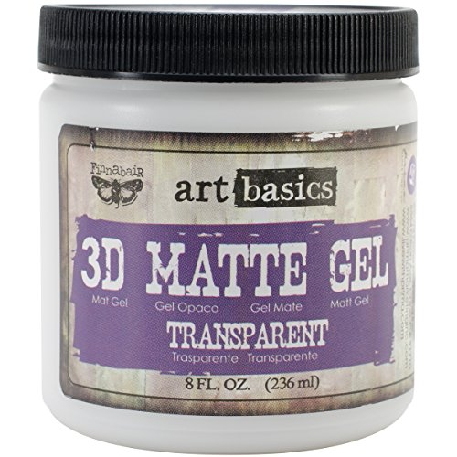 Heavy Gel - Prima Marketing Art Basics 3D Matte Gel, 8-Ounce, Transparent
