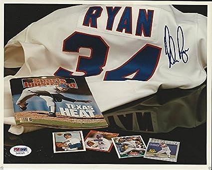 270dd4fad Nolan Ryan Texas Rangers Signed 8x10 Photo - PSA DNA Certified - Signed MLB  Photos