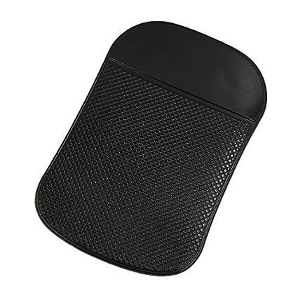 eDealMax Universal Negro de goma Suave antideslizante Mat Teléfono soporte de la almohadilla Para el coche