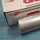 Silver 24'' x 30 Ft Roll of Oracal 951 Premium Metallic Vinyl for Craft Cutters and Vinyl Sign Cutters