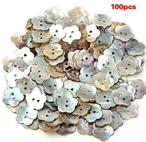 Fltaheroo 100x15mm Pearl Buttons Mother of Pearl Shell Flower Button