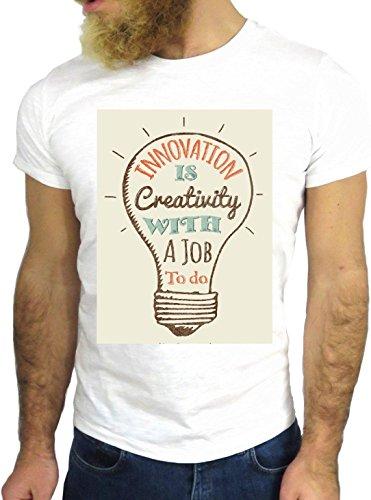 T SHIRT JODE Z1418 INNOVATION CREATIVITY JOB TO DO IDEA FUN COOL FASHION NICE GGG24 BIANCA - WHITE XL