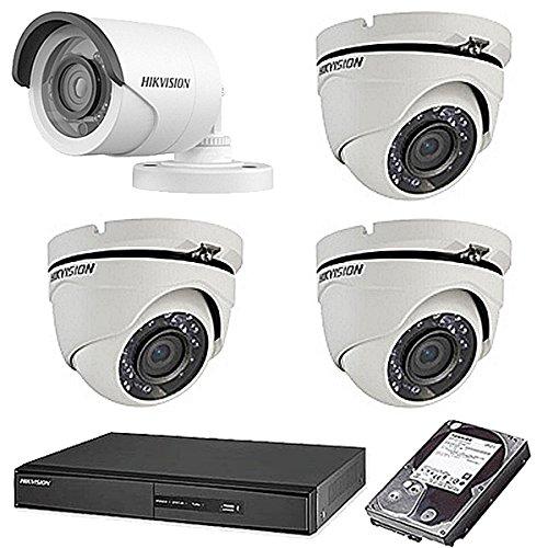 高い品質 HIKVISION(ハイクビジョン) 防犯カメラセット 録画機能付き 5年保証 セット 監視カメラ × 4台(243万画素フルハイイビジョン)+1TB HDD 防犯カメラ 屋外内用 小型 スマホ対応 録画機能付き 4CH 防犯カメラ セット 9点セット 日本語マニュアル付き 屋外用ドーム1台,屋外用3台 TVI-SET6-C4-1TB B074Z63N3P, MUSIC LAB:57394b20 --- trainersnit-com.access.secure-ssl-servers.info
