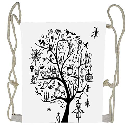 WATINCFlagHomegg Halloween Decorations Sketch Style Halloween Tree Spooky