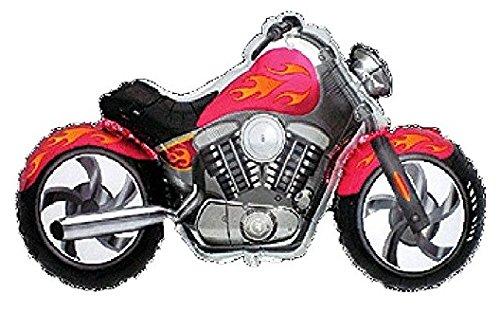 MOTORCYCLE Harley Davidson Hog Bike PINK-Red and Orange-Yellow Flame 45