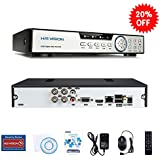 HISVISION 4CH 1080N Hybrid 5-in-1 AHD DVR (1080P NVR+1080N AHD+960H Analog+TVI+CVI) CCTV Quick QR Code Scan/Easy Remote View/Motion Detection Email Alerts Home Security Surveillance System (No HDD)