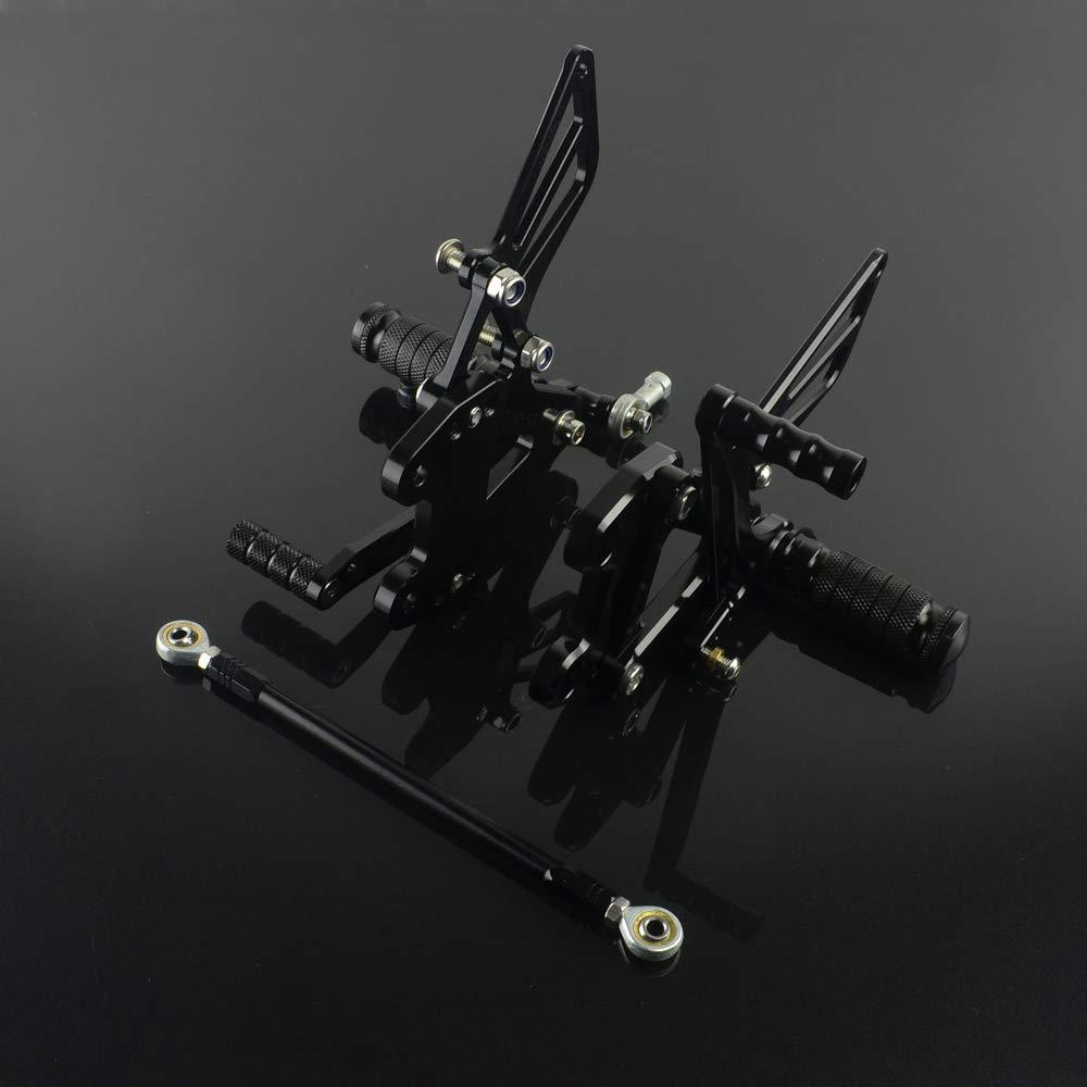 JFG RACING Motorcycle Rearsets CNC Adjustable Rear Foot Pegs Footrest For Kawasaki Ninja ZX6R ZX636 1999-2002, ZX9R 1999-2003, ZZR600 2005-2008